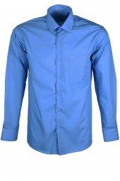 Erkek Klasik Gömlek Mavi Normal Kesim Rar00264