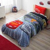 Taç Cars 3 Tek Kişilik Yatak Örtüsü Seti