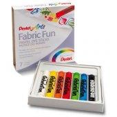 Pentel Arts Fabric Fun Tekstil Pasteli 7 Renk
