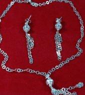 Doğal 925 Ayar Gümüş Bayan Set