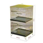 Iki Katlı Kuş Kafesi Lüks Sarı Galvanizli 40 X 50 X 89cm
