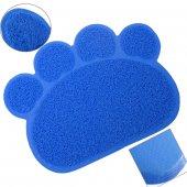 Happy Paws Kedi Paspası Mavi 60x45 Cm.