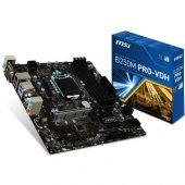 Msı B250m Pro Vdh Ddr4 S+v+gl 1151 (Matx)