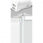 Ttec Speedcharger Duo Araç Şarj Aleti Çift Usb 3.1a (Çift Kablo)