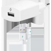 Ttec Speedcharger Seyahat Şarj Aleti 2.1a Lightning Kablolu Beyaz