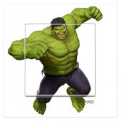 Dekoratif Uv Baskılı Elektrik Düğmesi Priz Kapı Zili Hulk