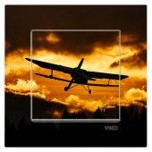Dekoratif Baskılı Elektrik Düğmesi Priz Kapı Zili Uçak Gece Çekim