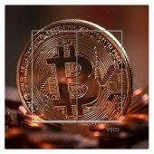 Dekoratif Baskılı Elektrik Düğmesi Priz Kapı Zili Bitcoin
