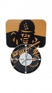 Sniper Asker Dekoratif Baskı Saat Hedef Tahtası Temalı Saat