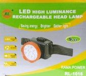Rl 1016 Şarjlı Kafa Feneri Projektör 9 Led