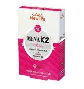 New Lıfe Mena K2 K2 Vitamini + D Vitamini 30 Kapsül Takviye Ed