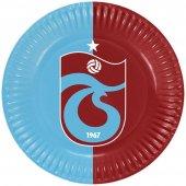 Trabzon Spor Desenli Karton Tabak 23 Cm 8 Adetli