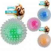 Pawise Flash Bouncer Ball Işıklı Şeffaf Plastik Top Köpek Oyuncağ