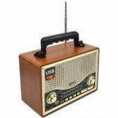 Kemai Md 1706bt Klasik Ahşap Retro Alaturka Radyo Bluetoothlu
