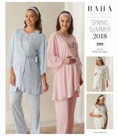 Baha 3305 Sabahlıklı Lohusa Pijama Takımı
