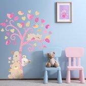 Dekorloft Ayıcık Ve Arkadaşları Ağaçta Çocuk Odası Duvar Sticker