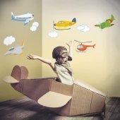 Dekorloft Uçaklar Çocuk Odası Duvar Sticker Cs 111