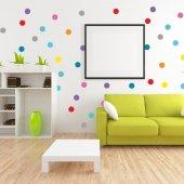 Dekorloft Gökkuşağı Mini Puantiyeli Çocuk Odası Sticker Cs 126