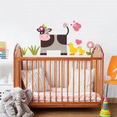 Dekorloft İnek Ve Arkdaşları Çocuk Odası Sticker Cs 230