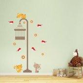 Dekorloft Kediler Ve Sokak Lambası Çocuk Odası Sticker Cs 244