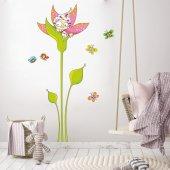 Dekorloft Çiçek Kız Çocuk Odası Duvar Sticker Cs 295