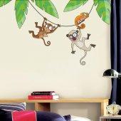 Dekorloft Maymun Arkadaşlar Çocuk Odası Duvar Sticker Cs 318