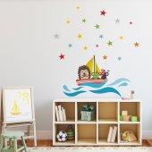 Dekorloft Komik Denizciler Çocuk Odası Duvar Sticker Cs 326