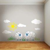 Dekorloft Kuzular Çocuk Odası Sticker Cs 569