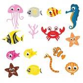 Dekorloft Deniz Hayvanları Çocuk Odası Sticker Cs 1519