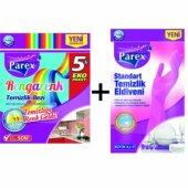 Parex Rengarenk Temizlik Bezi 5 Adet + Standart Temizlik Ediveni Büyük Boy 8, 5 9