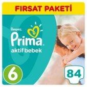 Prima Aktif Bebek Bezi Fırsat Paketi 6 Beden Ekstra Large 84 Adet