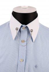 Gümüş Renk Çapa Motif Zincirli Gömlek Yaka İğnesi Gı152