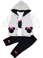 Hippıl Baby Lüx Yelekli Takım 3 6 12 18 Ay(Lacivert)