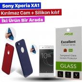 Jopus Sony Xperia Xa1 Kılıf+temperli Kırılmaz Cam Ekran Koruyucu