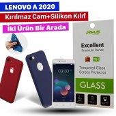 Jopus Lenovo A 2020 Kılıf + Temperli Kırılmaz Cam Ekran Koruyucu