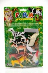 Kartela 12pcs 10cm Çiftlik Hayvanları