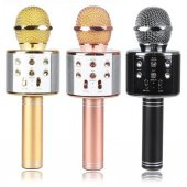 Wster Ws 858 Orjinal Bluetooth Karaoke Mikrofon Usb Sd Kart Radyo Beyaz Rengi