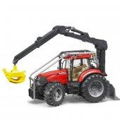 Bruder 03097 Tomruk Taşıyan Traktör Case Puma 230 Cvx