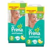 Prima Bebek Bezi Aktif Bebek Süper Fırsat Paketi 3 Beden 188 Adet
