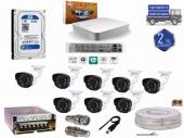 8 Kanal Dvr Cihazı+8 Cn 2022 Fullhd Kamera 1 Tb Hdd' Li Full Set