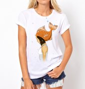 Balık Kız Temalı Bayan Tişört