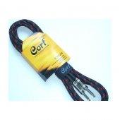 Cort Ca526 Bk Gitar Kablo Gürültüsüz 5m (Noısless), Siyah, Gold T