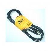 Cort Gitar Kablosu, Gürültüsüz (Noısless) Cable, 5m, Siyah Ca510