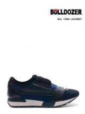 Bulldozer Siyah Lacivert Günlük Spor Ayakkabı Çift Ortopedili