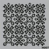 H007 Stencil Şablon 25x25cm