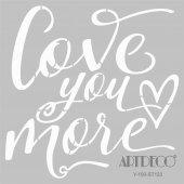 Artdeco Stencil Love You More 30x30cm St123