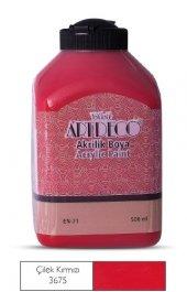 Artdeco 500ml 3675 Çilek Kırmızı Yeni Formül Akrilik Boya