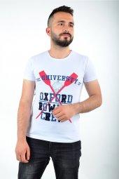 Baskılı Beyaz T Shirt