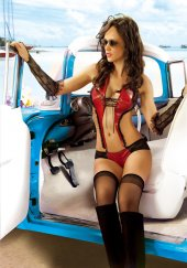 Mite Love Kadın Giyim Lame Deri Takım Kırmızı