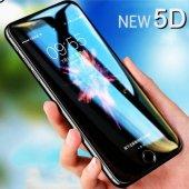 Apple İphone 5d Ekran Koruyucu Kırılmaz Cam Tam Kaplama Kavisli